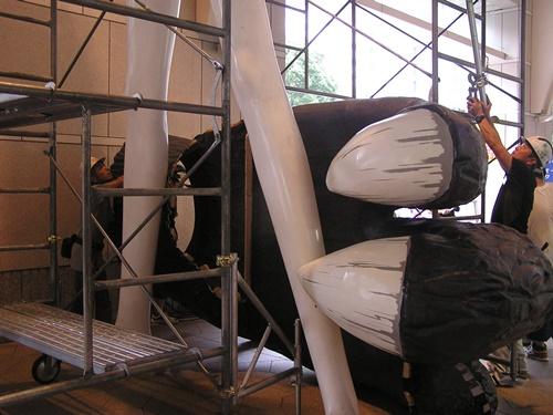 FRP造形 ナナちゃんとゴジラ 製作施工